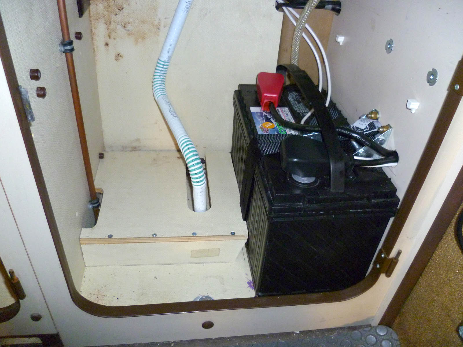 Westy Integrated Laptop Charger Steve Williams Basic Electrical Wiring About Battery Mounted Under Sink